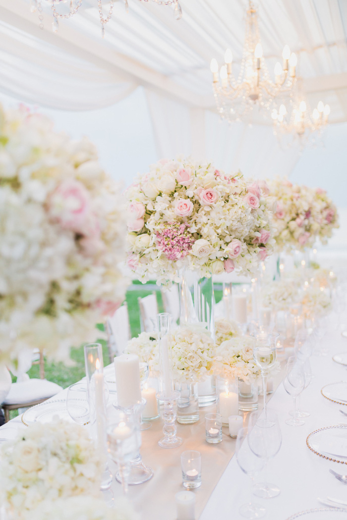 outdoor wedding reception set-up