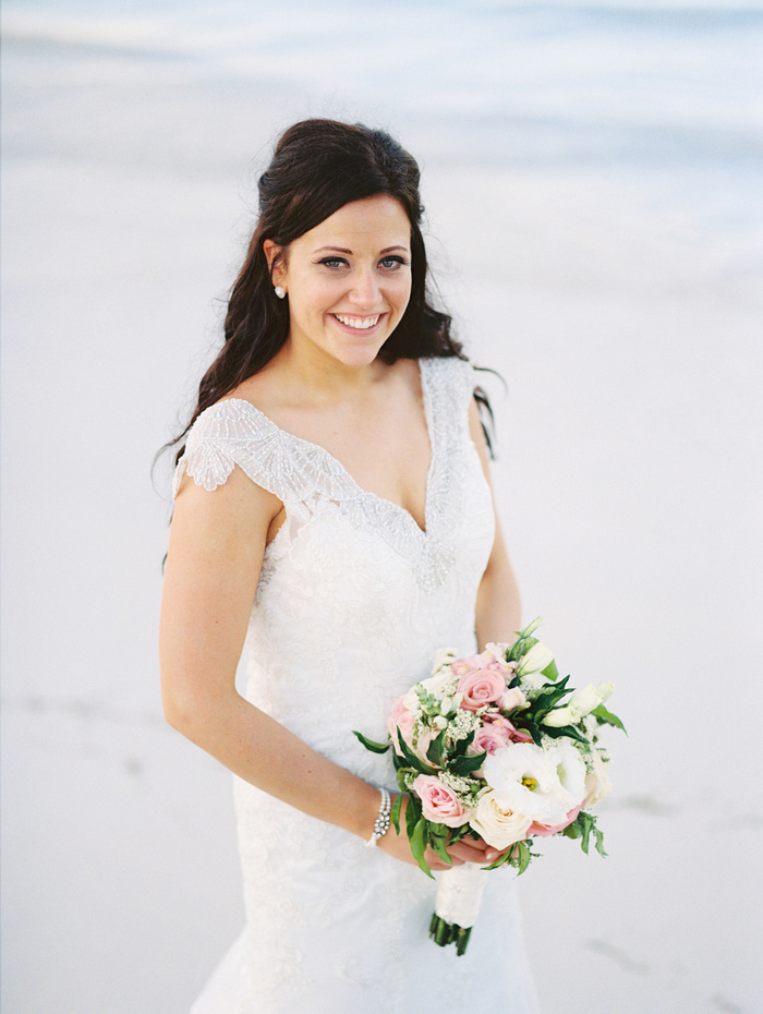 bride portrait on the beach