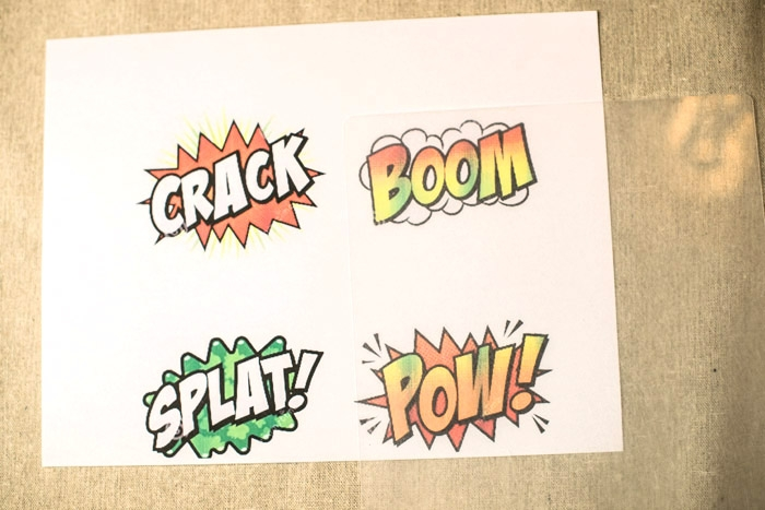 comic bubble action pins