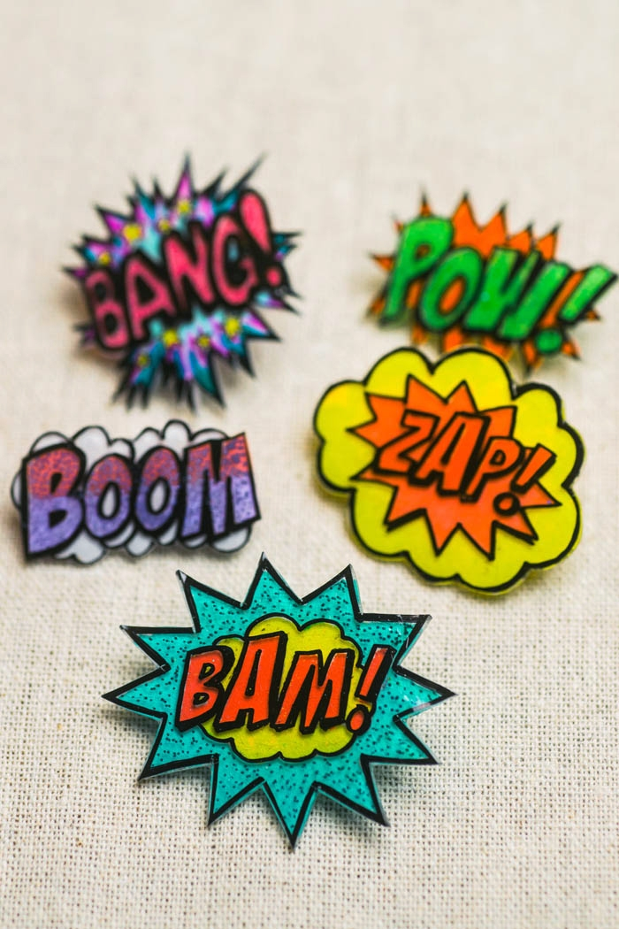 diy shrinky dink action bubbles