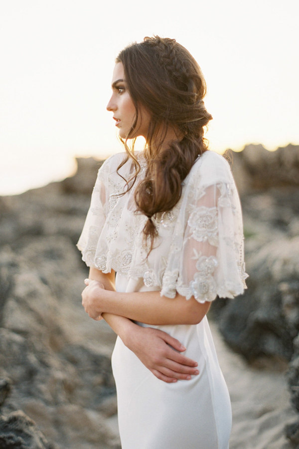 lace and glitter cape