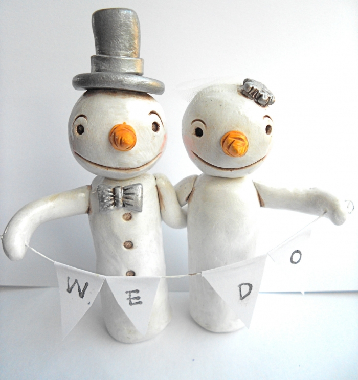 snoman-couple-cake-topper