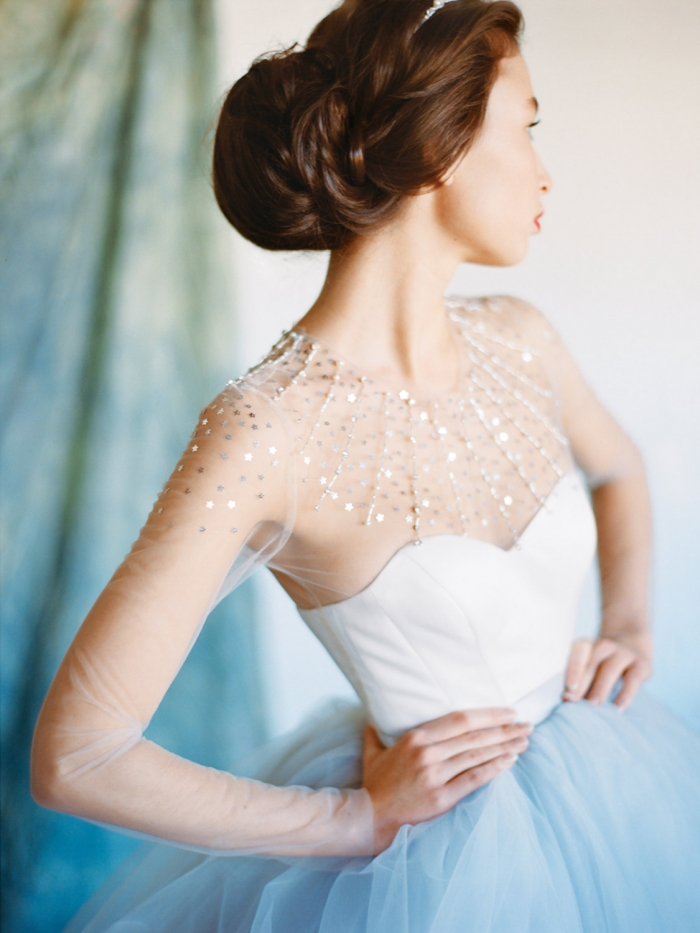 winter glitter wedding dress