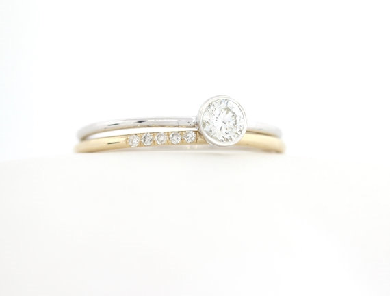 Bezel Set Wedding Bands