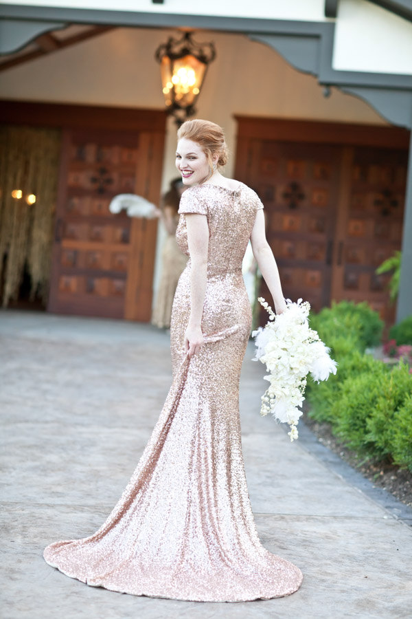 Rose Gold Wedding Dress 20 Elegant This marvelous gown from