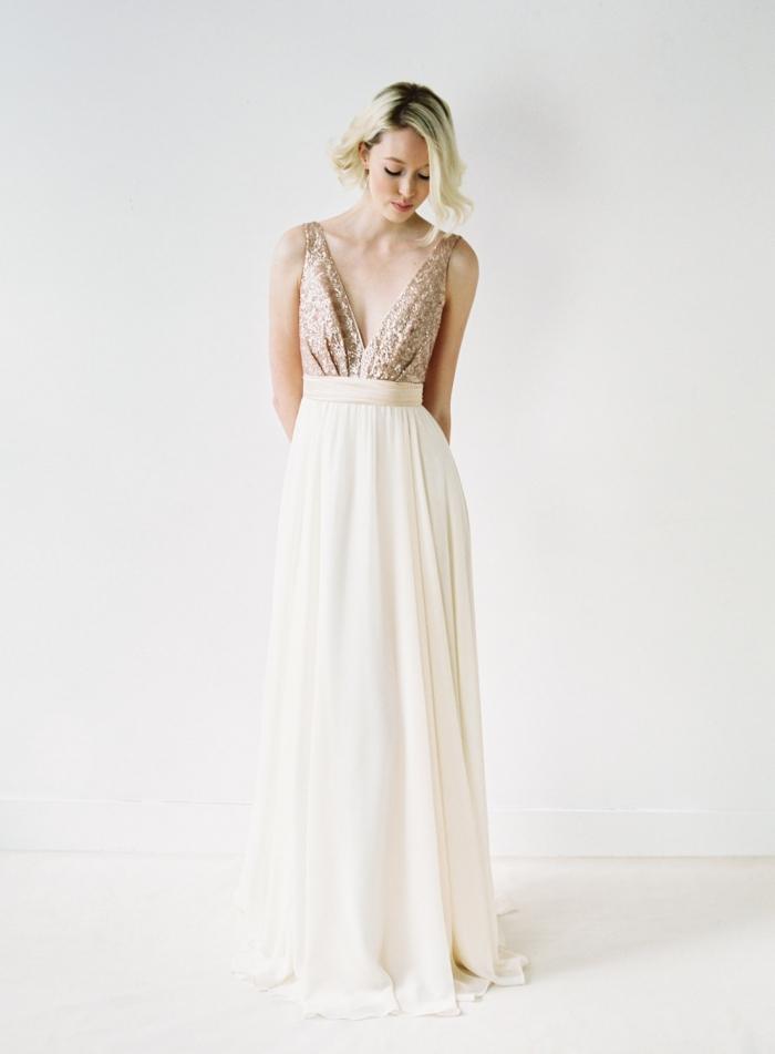 8 Radiant Rose Gold Dresses Intimate Weddings Small Wedding Blog Diy Wedding Ideas For