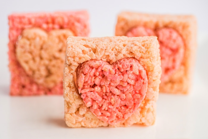 rice krispies hearts