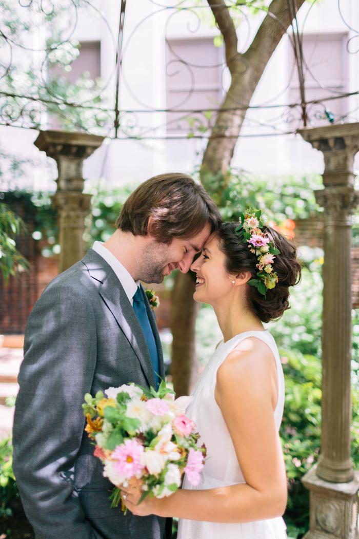 Kate And Scott S Intimate Garden Elopement In Philadelphia