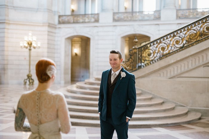 27 White Suits Perfect for a City Hall Wedding