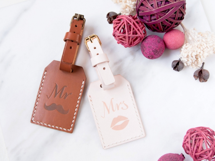 luggage tags mr. and mrs