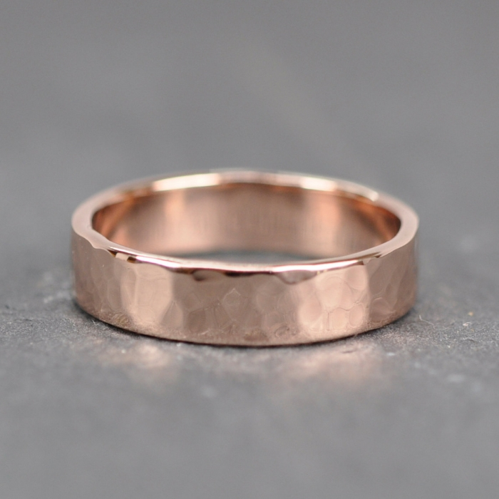 Rose Gold Remains To Be One Of Our Favorite Trends If You Love As Much We Do Then Ll Adore This Hammered 14k Wedding Band From