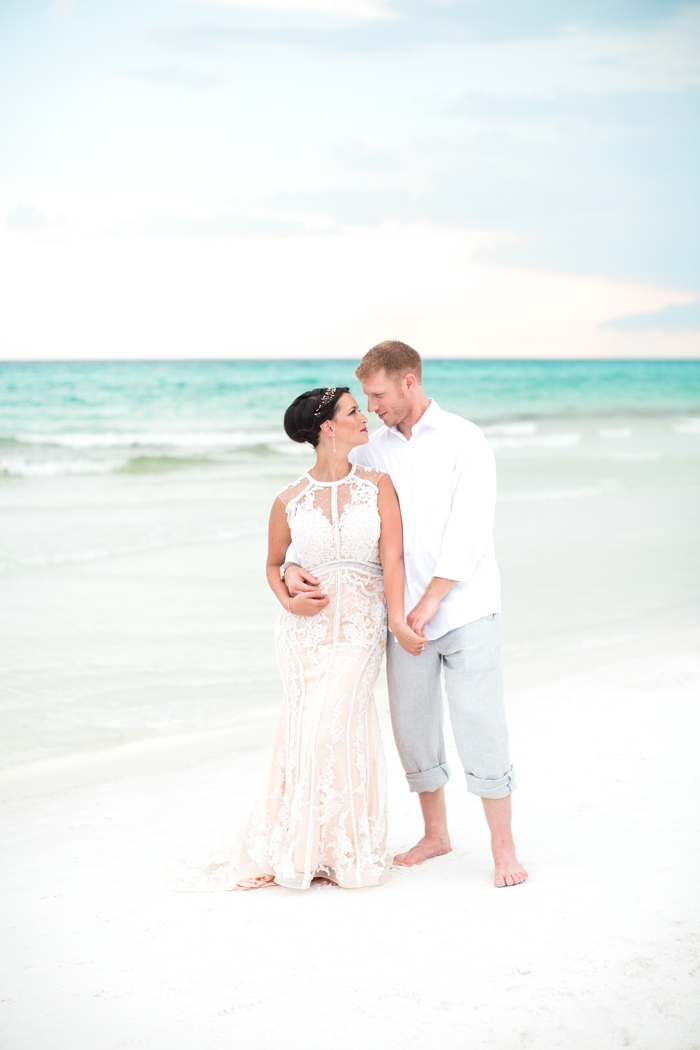 Stevie and Mat\'s Florida Beach Wedding | Intimate Weddings - Small ...