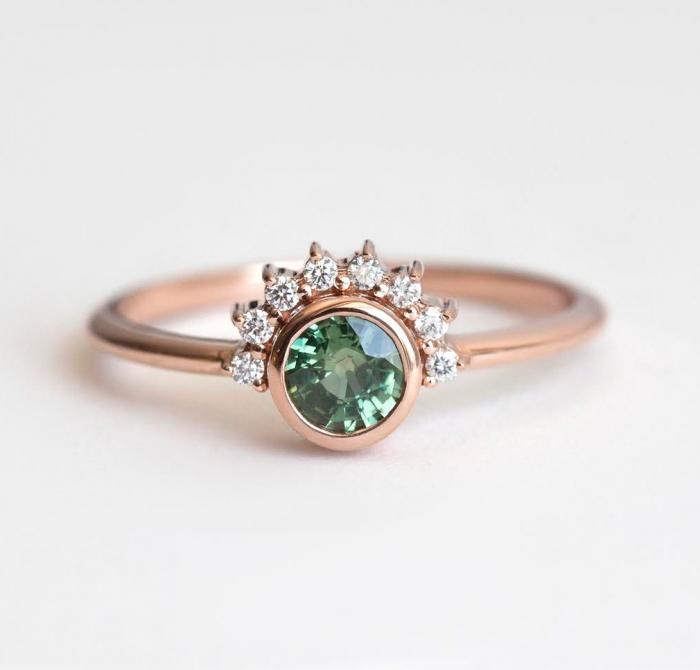 Diamond And Sapphire Wedding Ring 79 Good This green tea sapphire