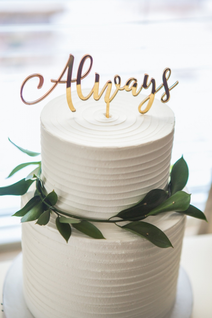 Three Layer Wedding Cakes With The Initials I And R