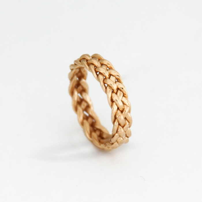 Unique wedding rings for the unique couple intimate weddings think minimalist means boring think again this braided gold wedding ring from mayamor proves that minimalism and elegance can go hand and hand junglespirit Gallery