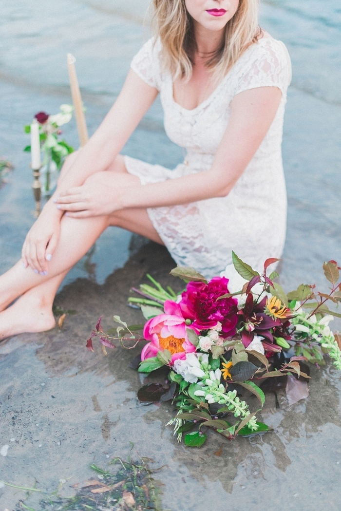 elegant picnic styled shoot