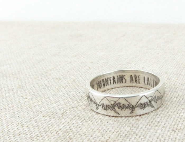 Mountain Wedding Ring 47 Awesome We love this simple
