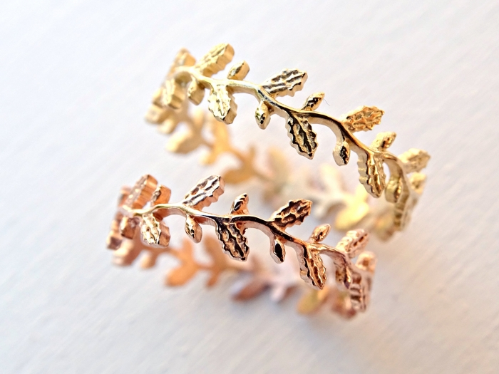 10 Leaf Adorned Rings from Etsy that You Will LOVE
