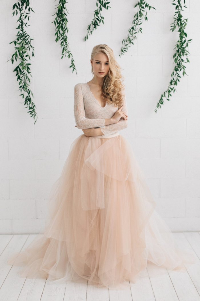 12 drop dead gorgeous tulle skirts for your bridesmaids for Wedding dresses with tulle skirts
