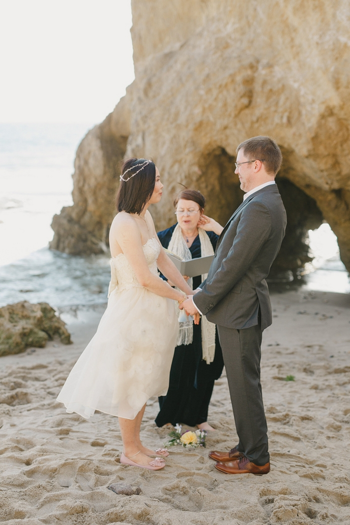 california elopement beach