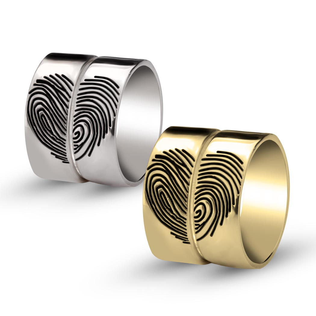 Heart Fingerprint Rings-g