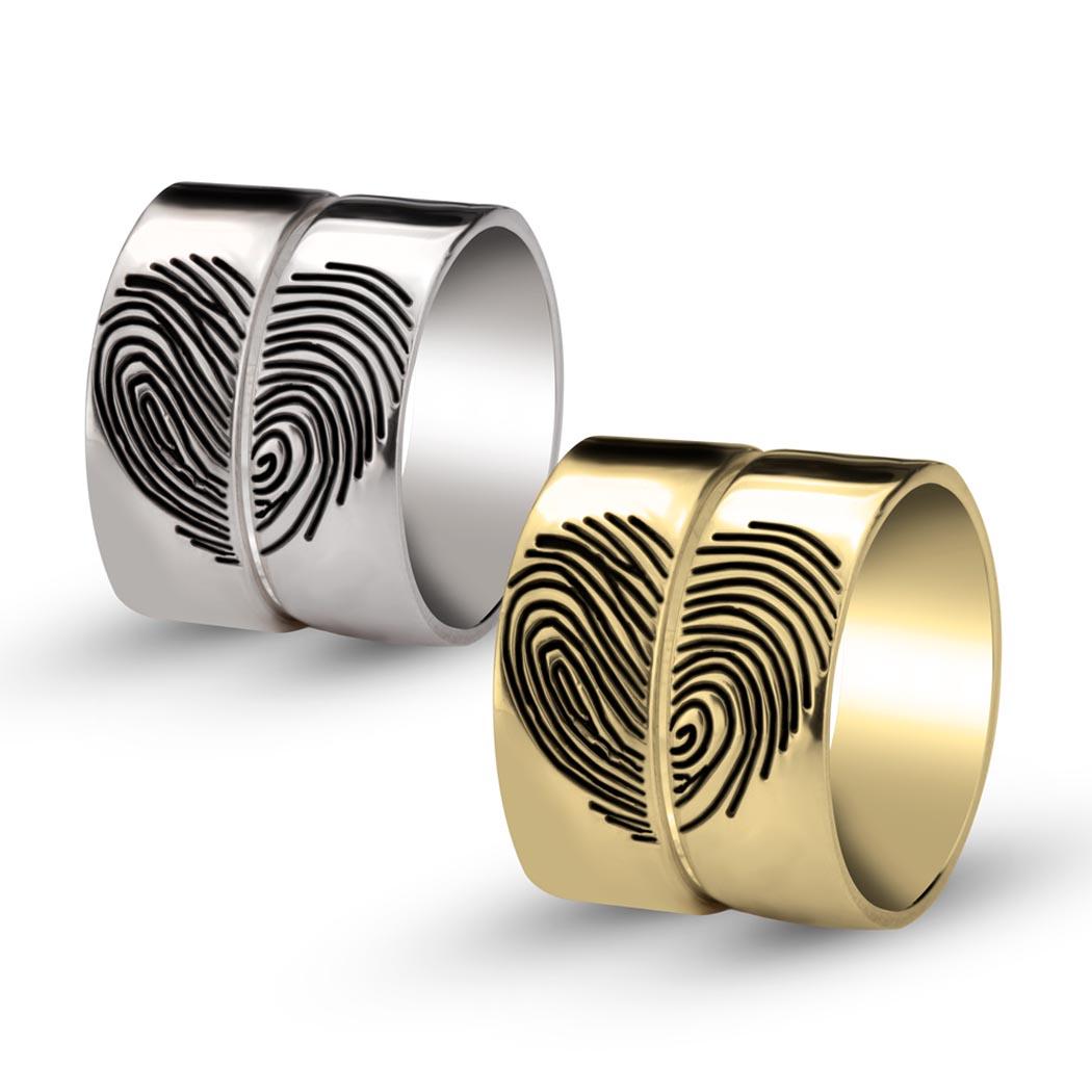 Heart Fingerprint Rings-g