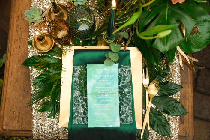 greenery wedding styled shoot
