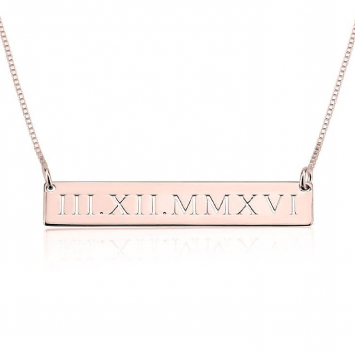 personalized pendants bar necklace