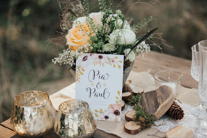 forest vintage styled shoot