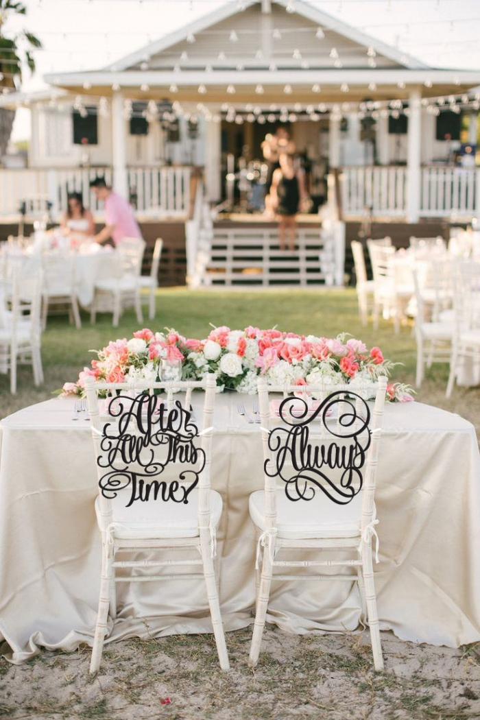 Another Stunning Way Of Remind Your Friends And Family Everlasting Love Is With These Chair Decorations By Psweddingsandevents