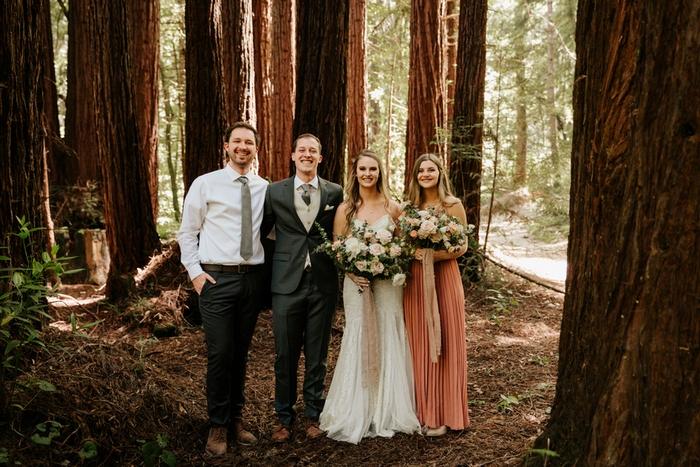 california forest wedding