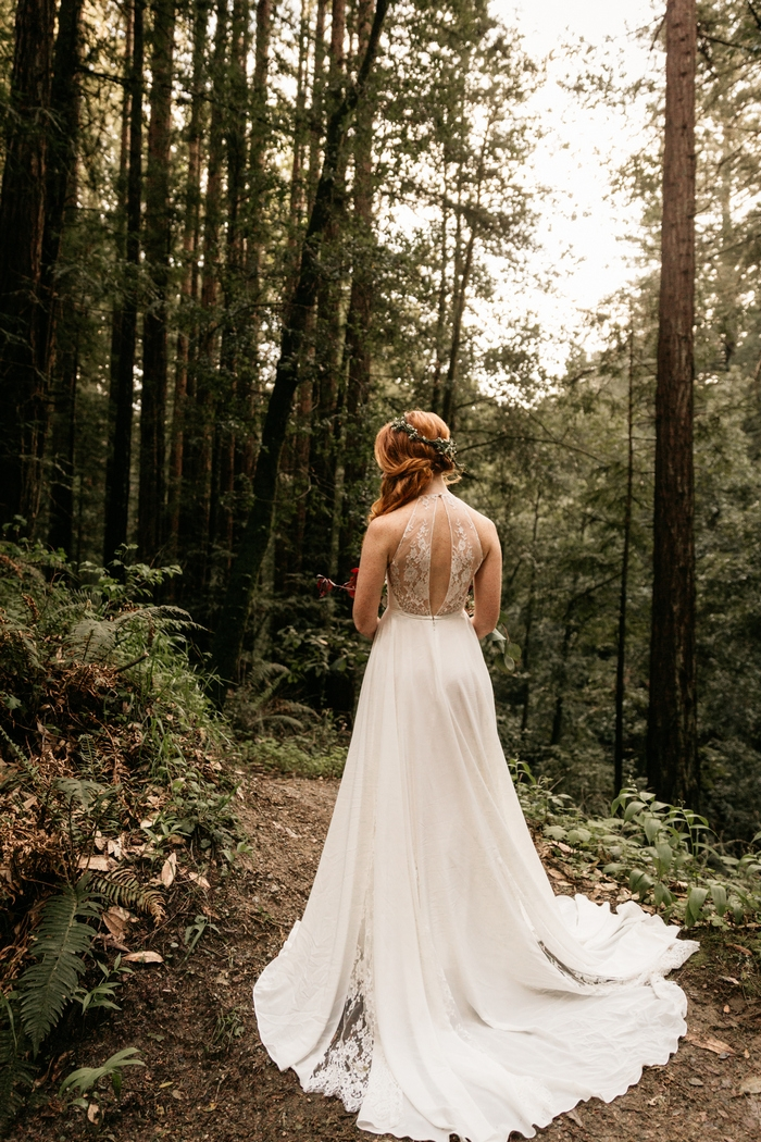 Sarah and alex 39 s small wedding in the forest intimate for Small intimate wedding ideas