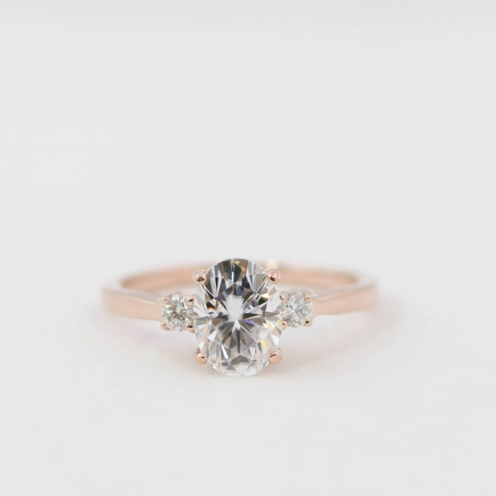 10 jaw dropping oval wedding rings intimate weddings small this rose gold ring from oliveavenuejewelry has certainly won us over junglespirit Images