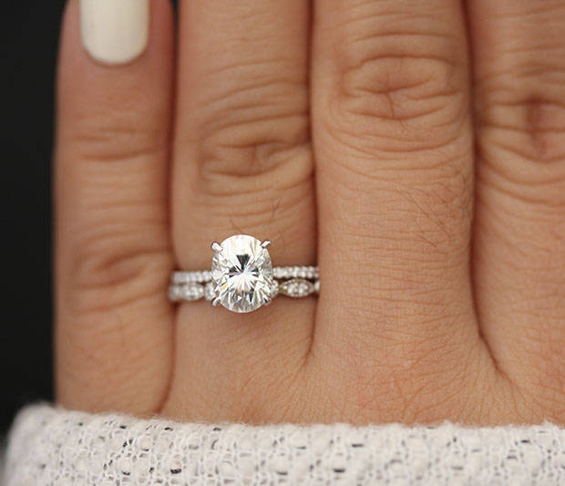10 Jaw Dropping Oval Wedding Rings Intimate Weddings