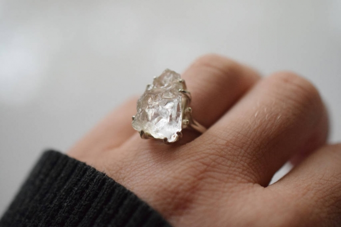 10 Stunning Raw Engagement Rings Intimate Weddings Small