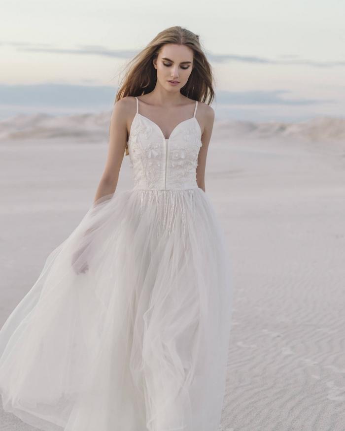 8 stunning floral wedding dresses intimate weddings for Small wedding dress ideas