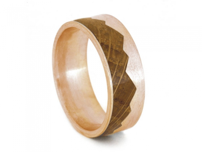Our Favorite Dapper Wooden Wedding Bands from Etsy Intimate