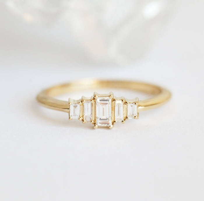 10 Exquisite Art Deco Engagement Rings From Etsy Intimate Weddings