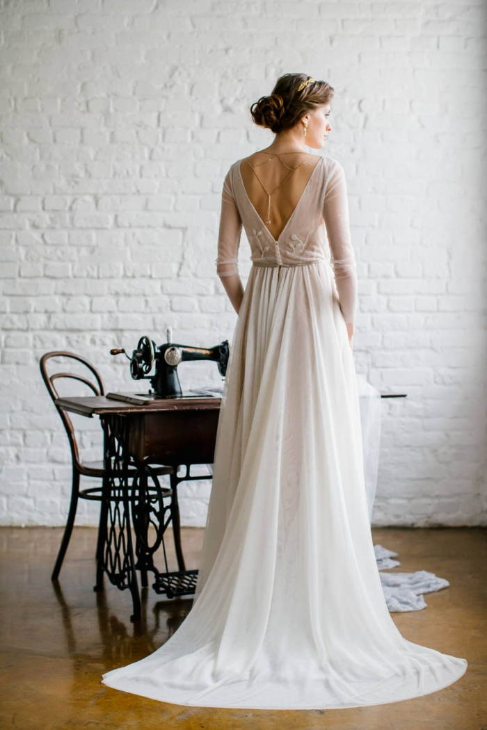 Absolutely Gorgeous Backless Wedding Dresses from Etsy | Intimate ...