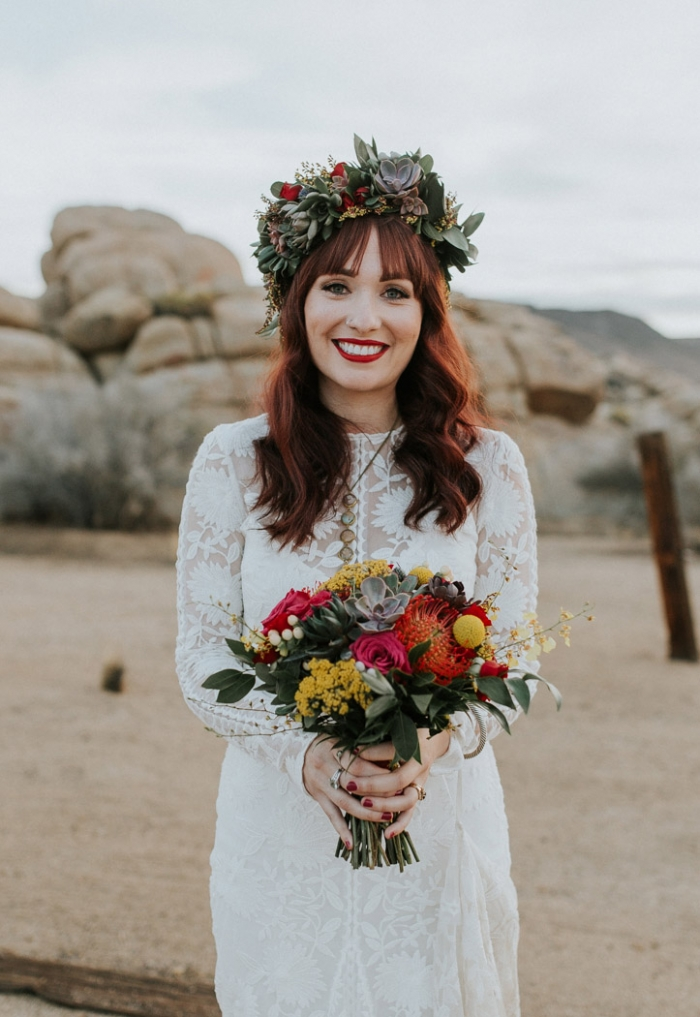 Flowers In Your Hair Gorgeous Floral Greenery Bridal Hairstyle