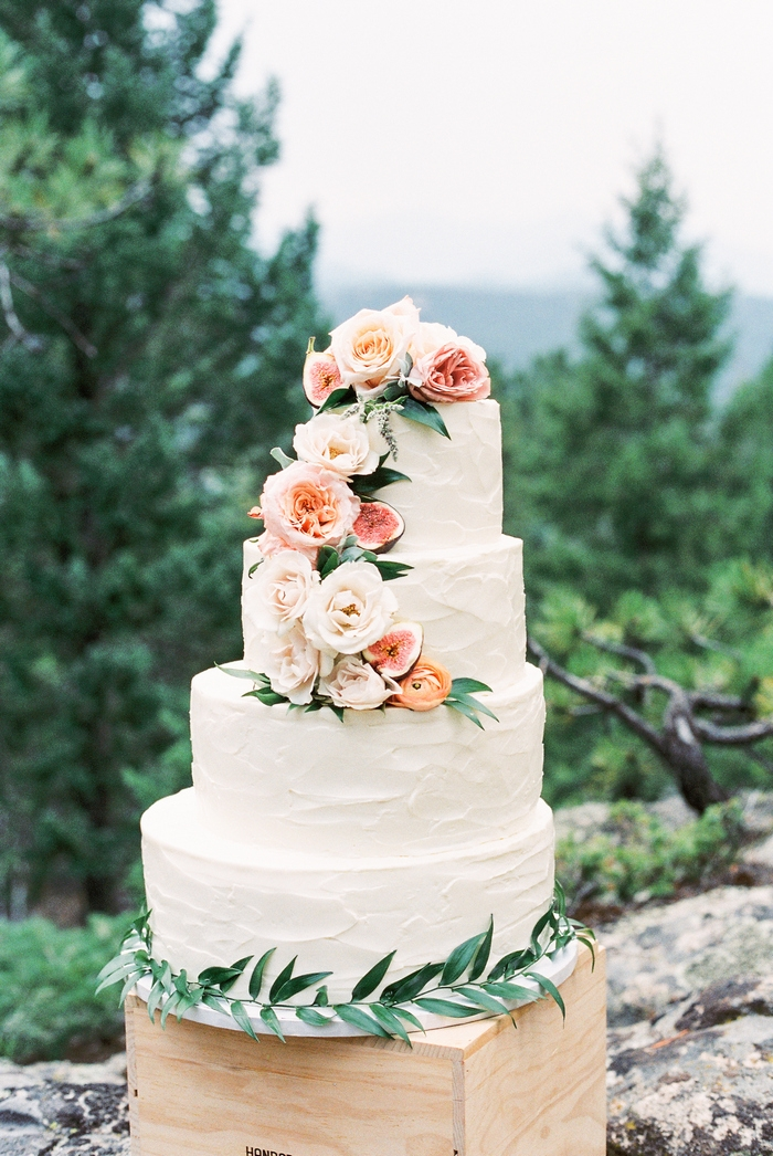 colorado forest picnic elopement