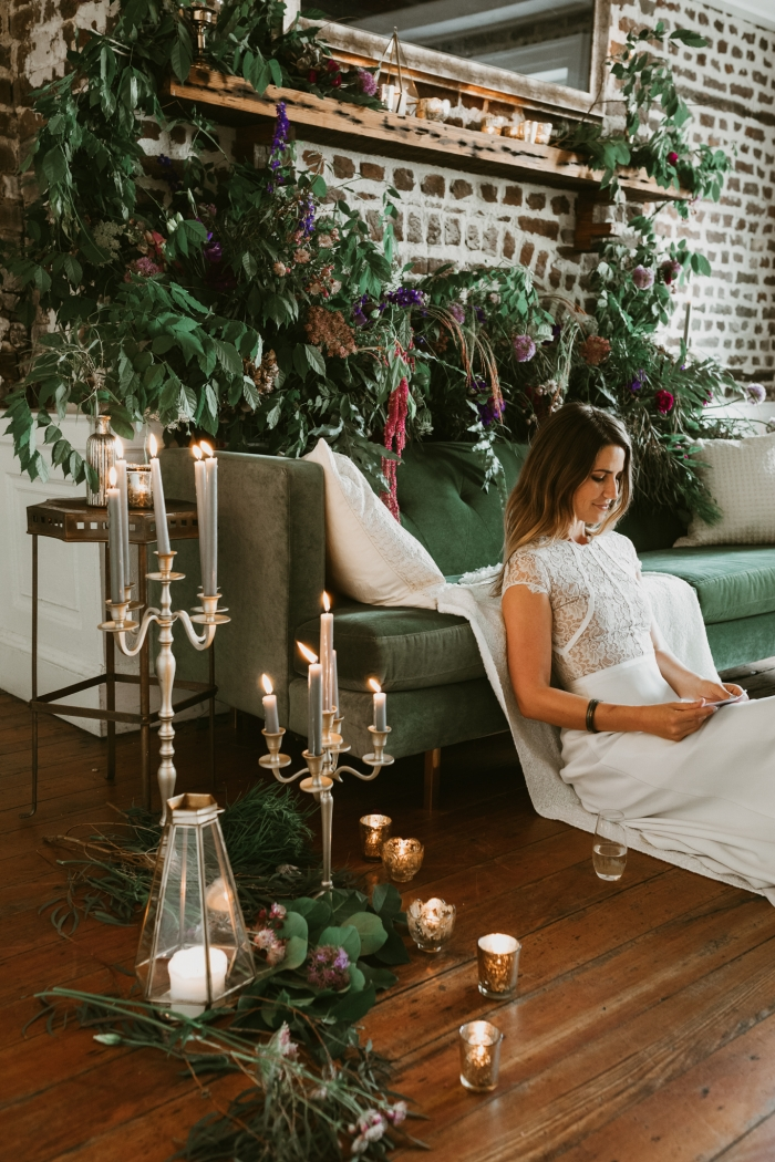 winter elopement styled shoot