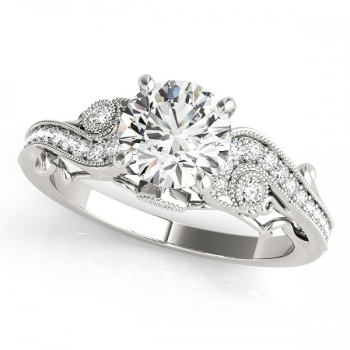 allegra white ring cultured diamond