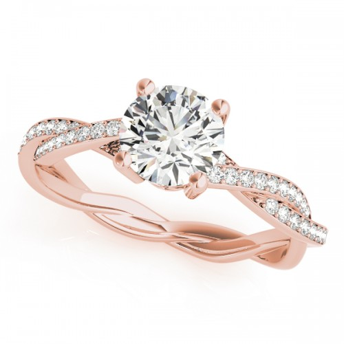 ballet ring rose gold cultured diamonds