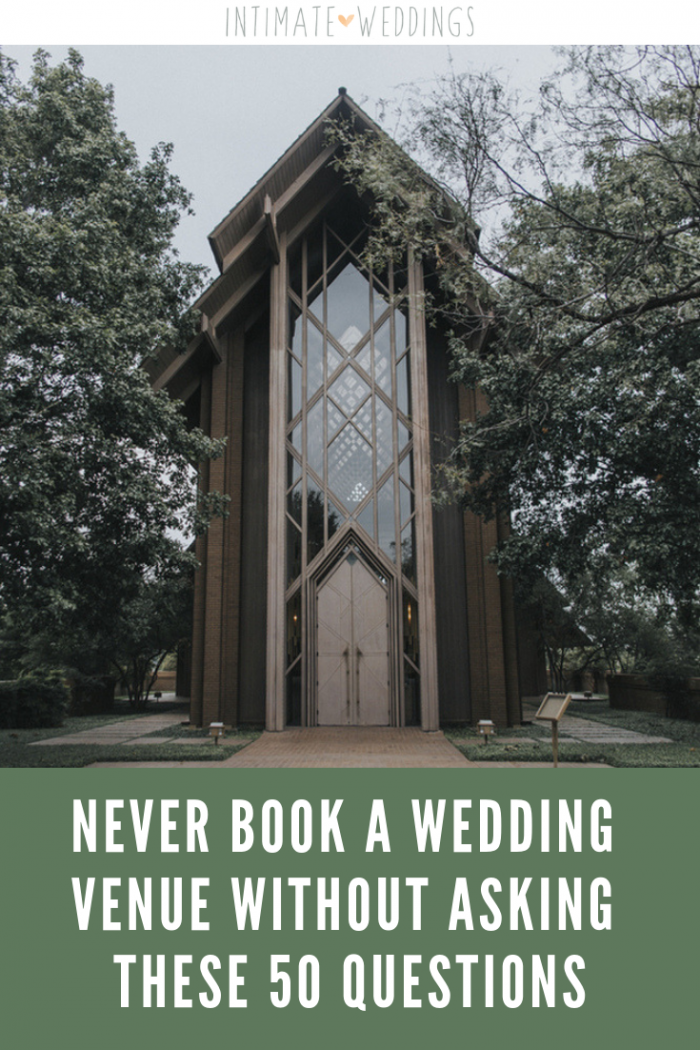small wedding venue questions for intimate wedding planning