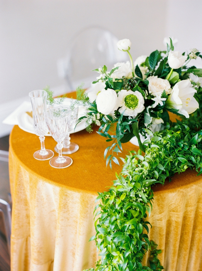 velvet table linen