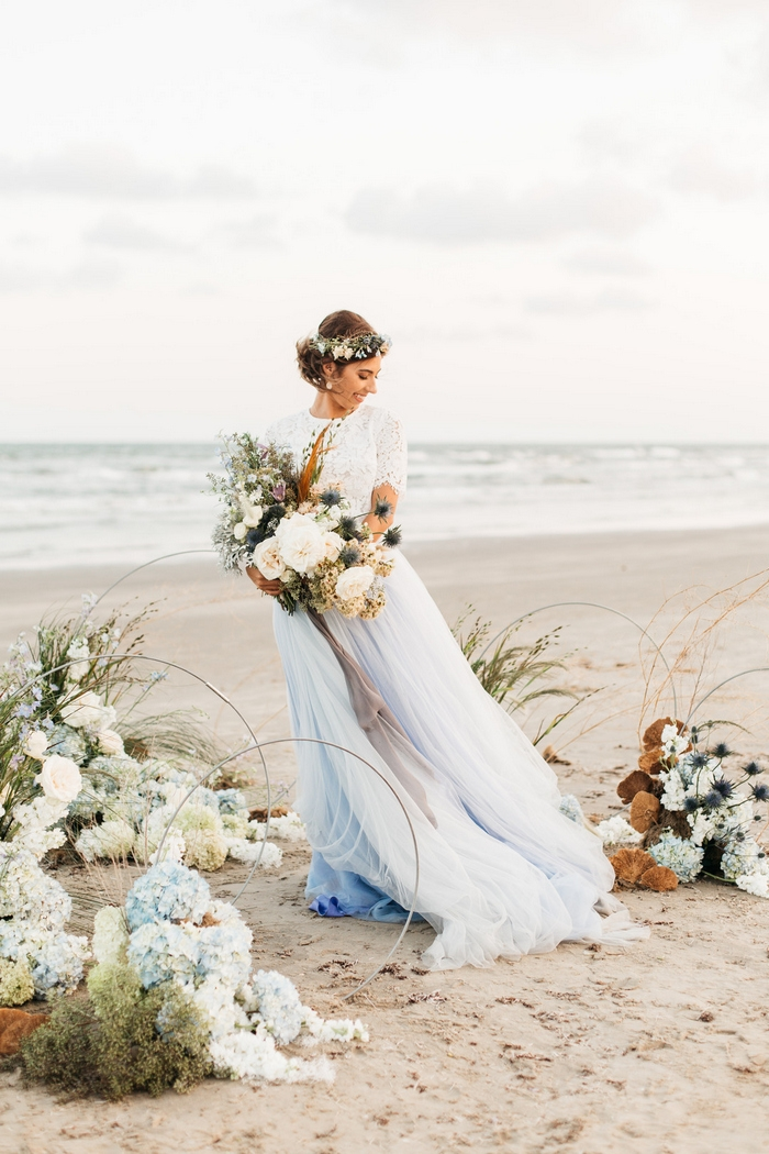 beach elopement styled shoot