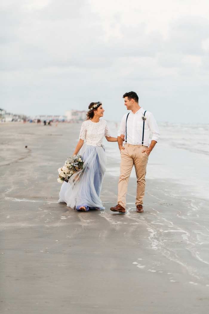 Airy Beach Elopement Styled Shoot Intimate Weddings