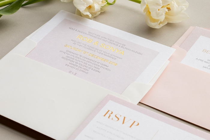 2019 wedding trends stationery gold foil letterpress wedding invitations paperlust