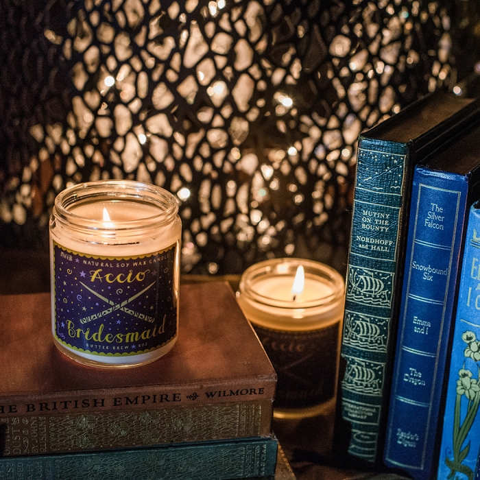 harry potter wedding luxury bridesmaid proposal gifts natural soy candle book themed